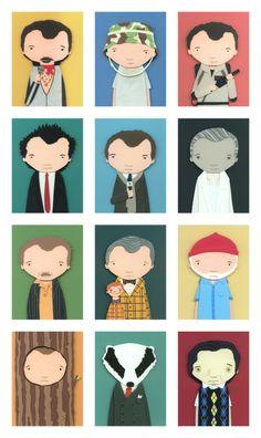 146d29d70d2 The many faces of Bill Murray Keys Art, Bill Murray, Many Faces, Inktober