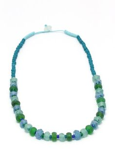Dalia Blue- Green Crystal Before A$27.95 NOW on SALE A$19.95 Fair Trade Fashion, Indigo, Blue Green, Jewelry Accessories, Beaded Necklace, Crystals, Beaded Collar, Jewelry Findings, Fair Trade