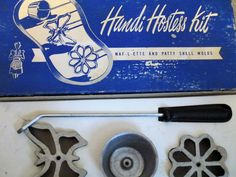VINTAGE Handi Hostess Kit -- Waf-L-Ette and Patty Shell Molds in Original Box -- Patty Melt with Directions/Recipe Pamphlet ... (This is an affiliate link) #candymakingsupplies Candy Making Supplies, Shells, Kit, The Originals, Recipe, Vintage, Conch Shells, Clams, Seashells