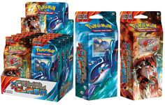 XY Primal Clash Theme Deck: After centuries asleep, the deep power of Primal Groudon-EX erupts from the land as Primal Kyogre-EX crashes in from the sea, riding titanic waves into battle! With colossal new arrivals like Mega Gardevoir-EX and Mega Aggron-EX, XY—Primal Clash expansion is alive with the primordial power of Ancient Traits—plus all-new Spirit Link and Special Energy cards! • Over 150 cards • 12 new Pokémon-EX, including 2 Mega Evolution Pokémon and 2 Primal Reversion Pokémon