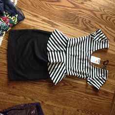 Tight Fitting Black And White Dress From Urban!