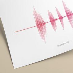 Lydplakat lavet med din egen stemme Diy Home Interior, Diy Paper, Hygge, Hair Accessories, Prints, Hair Accessory