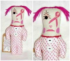 PINK Breast Cancer Dammit Doll Swear Stress by FosterChildWhimsy Dammit Doll, Fabric Beads, Cancer Awareness, Breast Cancer, Tatting, Whimsical, Projects To Try, Stress, Etsy Shop