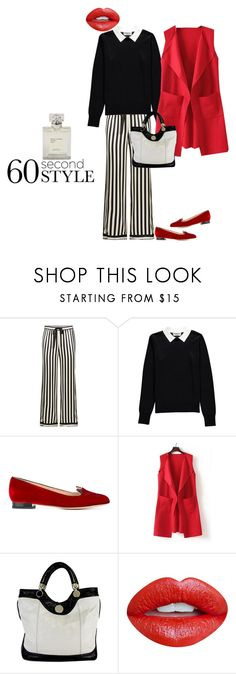 """""""60 sec style"""" by byasha ❤ liked on Polyvore featuring Morgan Lane, Essentiel, Charlotte Olympia, WithChic, Jill Stuart, Nevermind, 60secondstyle and PVShareYourStyle"""
