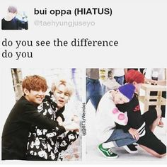 The difference between V & Jimin