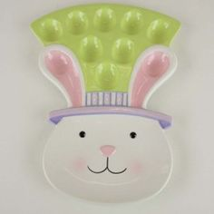 Easter Bunny Egg Plate