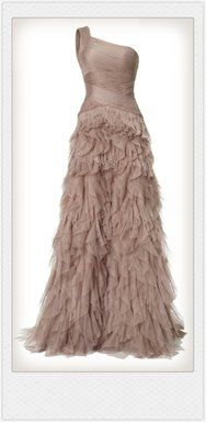 I love this nude gala dress by Unielle Couture!! I wish I could just wear it around the house.