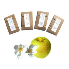 Golden Delicious Scented Envelope #Sachets - Rustic Country Wedding Favor - #Apple Drawer Fragrance - Yellow Brown Modern Rustic Home Decor #handmade on #etsy by #pebblecreekcandles, $12.00