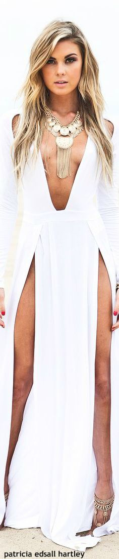 Wow....Would be great as a resort cover-up or lounge wear! Woohoo! Revealing!