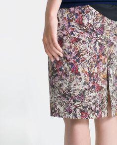 Spódniczka do kolan w kwiaty - Zara