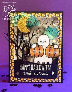Sara Pieri: scrap stamping e fantasia: BOO - 8/28/16.  (Pin#1: 2 Cute Ink. Pin+: Halloween: Ghosts).