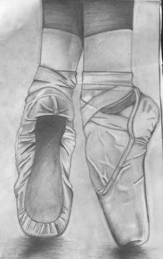 Ballet shoes (my drawing)
