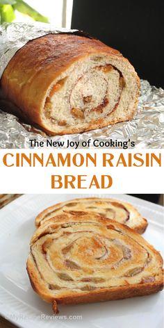The New Joy of Cooking's Cinnamon Raisin Bread. #MyRecipeReviews #cinnamonbread #goldenraisins Muffin Recipes, My Recipes, Bread Recipes, Cinnamon Raisin Bread, Sugar Sprinkles, Joy Of Cooking, Cooking Ingredients, Food Reviews, Dry Yeast