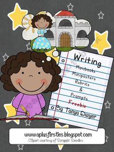 Writing rubrics and mini book for 1st grade...freebie