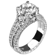 Jack Kelege Platinum Diamond Engagement Ring.  Now available at Diamond Dream Fine Jewelers https://www.facebook.com/pages/Diamond-Dream-Fine-Jewelers/170823023636 https://www.diamonddreamjewelers.com info@diamonddreamjewelers.com 908.766.4700