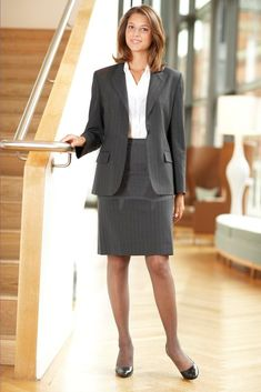 tights hosiery fashion: Tights and pencil skirt for fab look, one of my favourite outfits ! Business Dresses, Business Outfits, Business Attire, Office Outfits, Business Women, Work Outfits, Business Lady, Business Formal, Office Attire