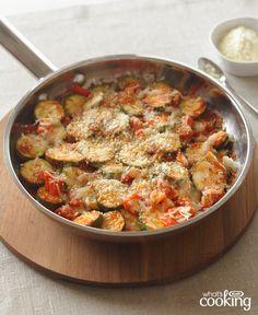 Skillet Parmesan Zucchini #recipe