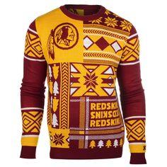 Washington Redskins Patches Style Ugly Sweater