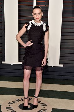 Daisy Ridley wearing the Jimmy Choo HELENA pump at the #Oscars after party