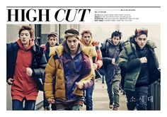 """The fashion and celeb paperzine """"High Cut"""" has unveiled its cover models for its October issue, and its none other than one-half of EXO, EXO-K.   The photo shoot is titled """"Era of EXO,"""" and it shows the boys of EXO-K dressed in various style of semi-casual wear topped with winter coats. While the coats are all from outdoor wear brand Kolon Sport, the boys are layered underneath in various different brands ranging from 8Seconds, System Homme, Codes Combine, and more."""