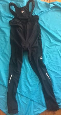 28944781a6afb Details about Pearl Izumi Black Full Body Cycling Suit Long Sleeve One  Piece Triathlon Sz XL