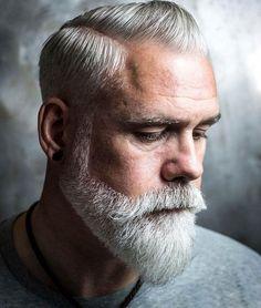 Bald Men With Beards, Types Of Beards, Bald With Beard, Grey Beards, Grey Hair Beard, Men With Grey Hair, Gray Hair, Short Boxed Beard, Short Beard