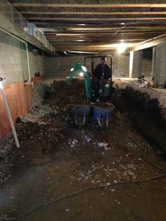 Crawl space dig out to make a basement Columbus,