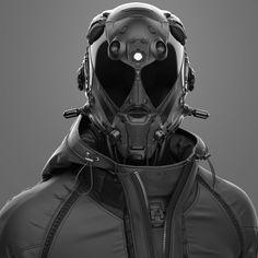 Cyberpunk Costume - By Samsimsom Cyberpunk 2020, Arte Cyberpunk, Cyberpunk Aesthetic, Robot Concept Art, Armor Concept, Motorcycle Helmet Design, Robots Characters, Sci Fi Armor, Fantasy Armor