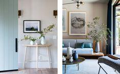 Sunset Idea House — Lauren Nelson Design Scandinavian Interior Doors, Living Room Carpet, Living Room Furniture, Interior Inspiration, Room Inspiration, Navy Home Decor, Plant Decor, Living Spaces, Living Rooms