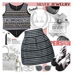 """Sweet Silver Jewelry"" by katjuncica ❤ liked on Polyvore"