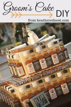 Grooms Cake - Heathered Nest DIY