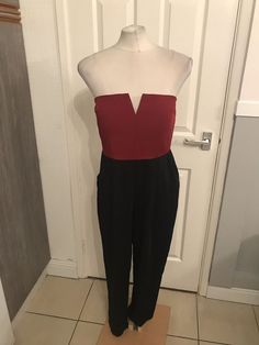 500c4a02050 Ladies Black And Red Dressy Style Jumpsuit Size 14 AX Paris  fashion   clothing  shoes  accessories  womensclothing  jumpsuitsrompers (ebay link)