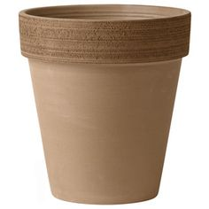 �15-in H x 14-in W x 14-in D Chocolate Clay Outdoor Pot