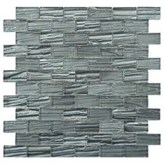 Merola Tile Aspen Subway Blue 12-1/2 in. x 12-1/2 in. Glass Mosaic Wall Tile-GSI10ASB at The Home Depot