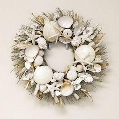 "Seaside Cottage Wreath - 18"" round  $75.00 The Ivory Company.com"