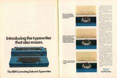 1973 IBM Correcting Selectric Typewriter Advertisement Time Magazine April 9 1973 | by SenseiAlan