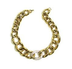 Glam Chunky Curb Link Chain Necklace 1970/80s #sashamaksvintage #vintage #jewelry #statement #chain #necklace