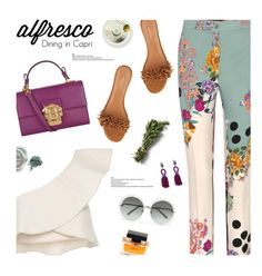 """Enjoy that summer breeze"" by magdafunk ❤ liked on Polyvore featuring Isabel Marant, Etro, Dolce&Gabbana, Aquazzura, Chloé and Oscar de la Renta"