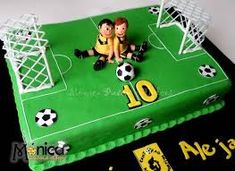 Resultado de imagen para torta con cancha de futbol