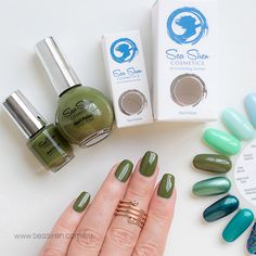 SEA MOSS is a deep olive/khaki green creme nail polish. Cruelty Free & Vegan Friendly. CCF Accredited. 5 Free. UV & Chip Resistant. Premium, salon quality formula. Made in Australia.