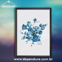 Mais um quadro especial para presentear as mamães! Qual mãe que não gosta de flores né !?  Corre já pra loja www.dependure.com.br