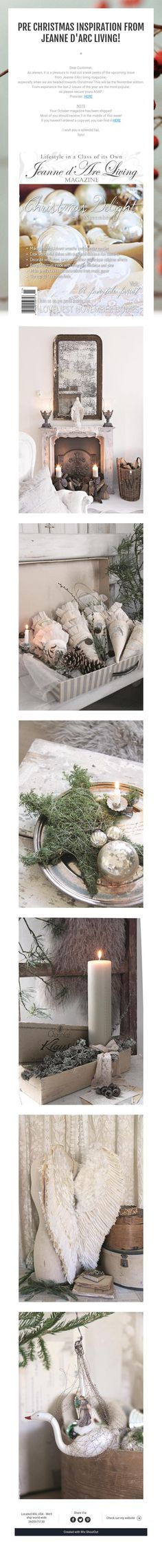 Pre Christmas Inspiration from Jeanne d'Arc Living!