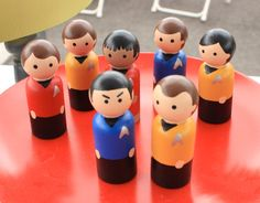 Star Trek Peg Doll Set from Wooden Leg Named Smith