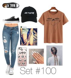 """No Name"" by emma-natalie ❤ liked on Polyvore featuring WithChic, Converse, Casetify and Nasaseasons"