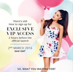 @lilmoonlightbae new promo pic for Ariana's Lipsy collection out March 2nd !! ONLY TWO DAYS
