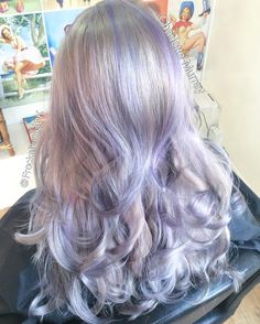 One of my fave colours ☂💇 icy white colour with flecks of lilac throughout with a root shadow. Using @olaplex @olaplexuk @affinageprofessional @affinageusa @wellahair @wellaeducation   #Love #gorgeous #hair #goals #white #gray #grey #lilac #purple #frozen #curly #Blowdry #long #wavy #Lincoln #hairdresser #hairstylist #colour #artist #pretty #fabulous #client #happy #inspire