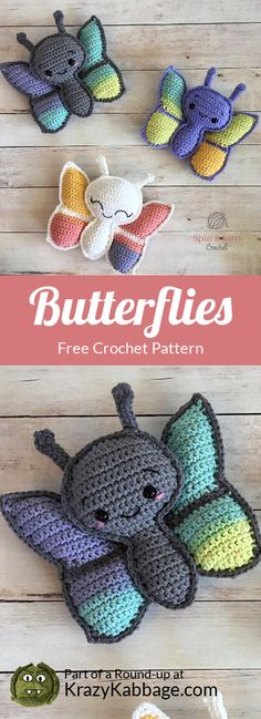 Best Images Crochet Patterns toys Popular To help enjoy creating crochet patterns , apply using patterns that you just previously know. Crochet Butterfly Free Pattern, Easter Crochet Patterns, Crochet Bunny, Crochet Patterns Amigurumi, Crochet For Kids, Crochet Toys, Free Crochet, Crochet Apple, Crochet Fruit