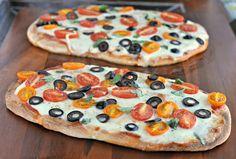 tomato basil mozzarella pizzas