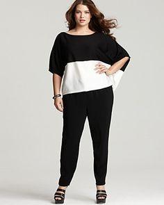 faf4337d5bf30 DKNYC Plus Size Asymmetric Color Block Sweater Women - Plus - Bloomingdale s