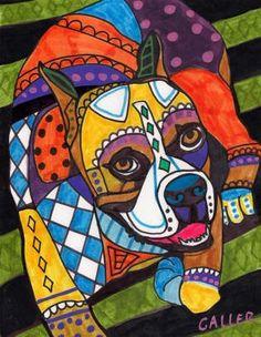 Dog Prints  Boxer Dog Art PRINT Poster of by HeatherGallerArt, $24.00